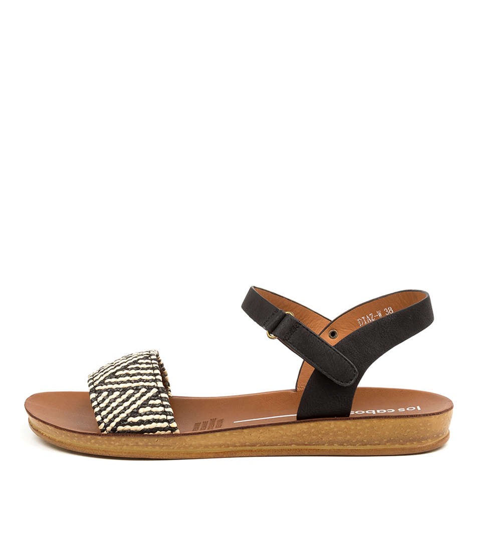 Buy Los Cabos Diaz W Lc Black Nude Flat Sandals online with free shipping