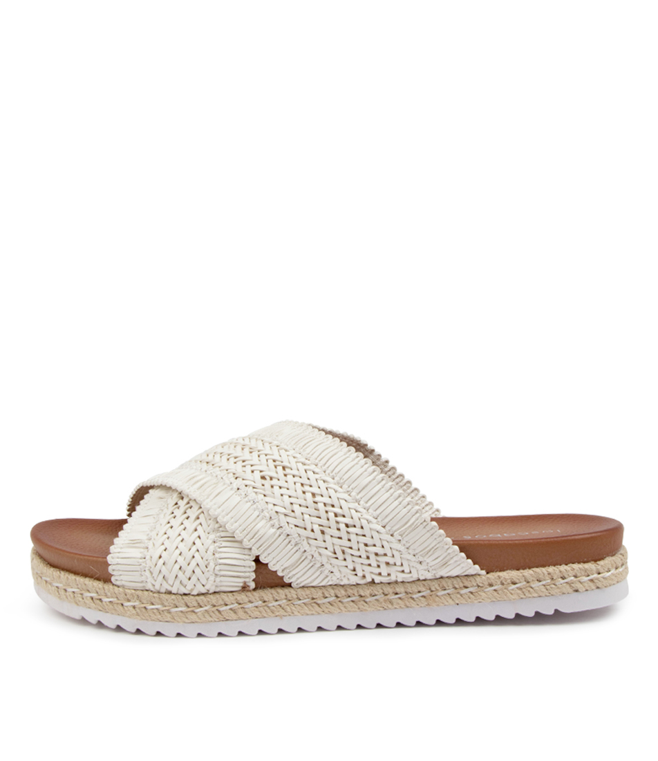 Buy Los Cabos Tinny W Lc White Flat Sandals online with free shipping