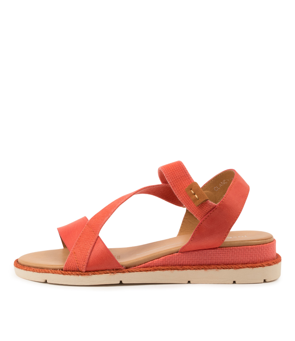 Buy Los Cabos Clancy W Lc Blood Orange Heeled Sandals online with free shipping