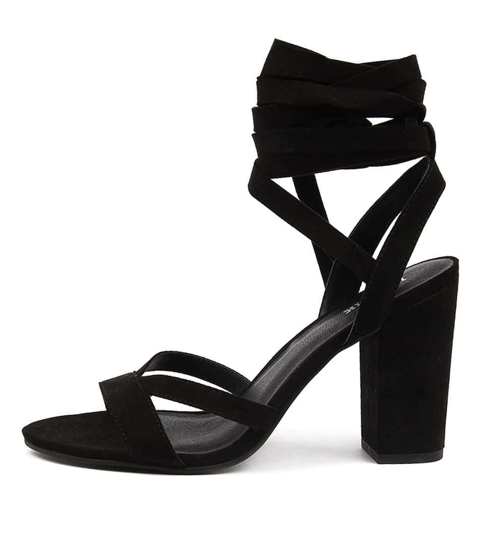 Lipstik Nini Black Heeled Sandals