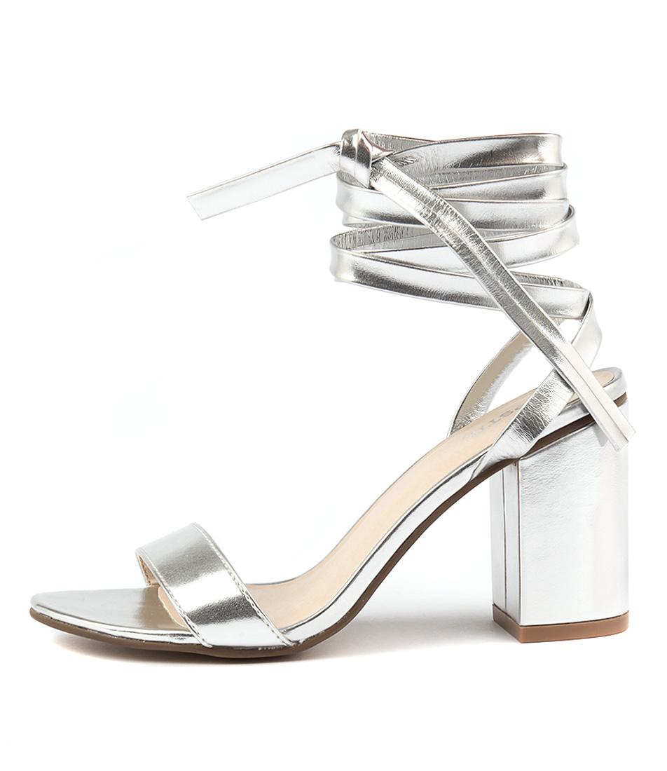 Lipstik Brissa Silver Heeled Sandals