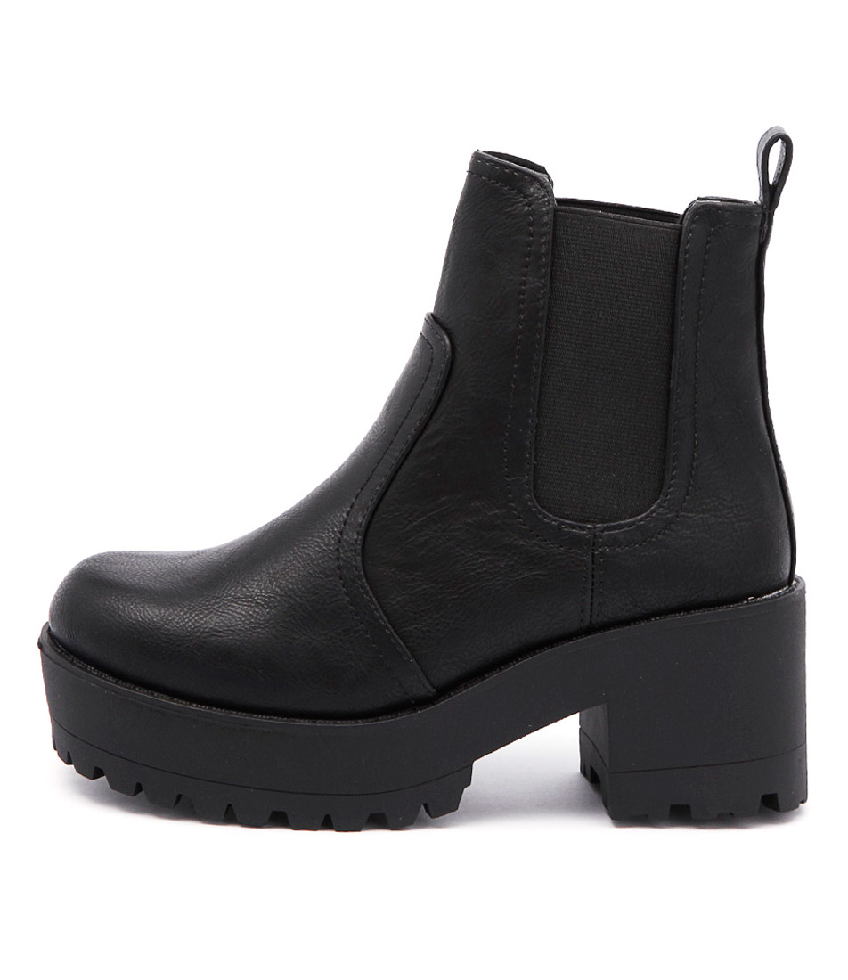 Lipstik Eamon Black Casual Ankle Boots