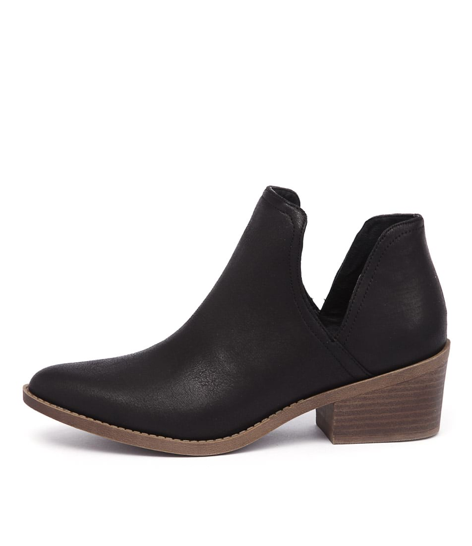 Lipstik Tara Li Black Natural Ankle Boots