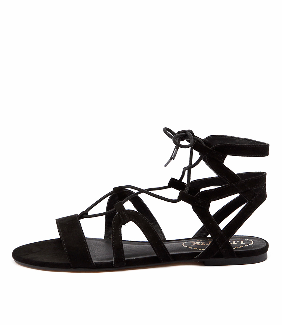 Lipstik Wrapping Black Sandals