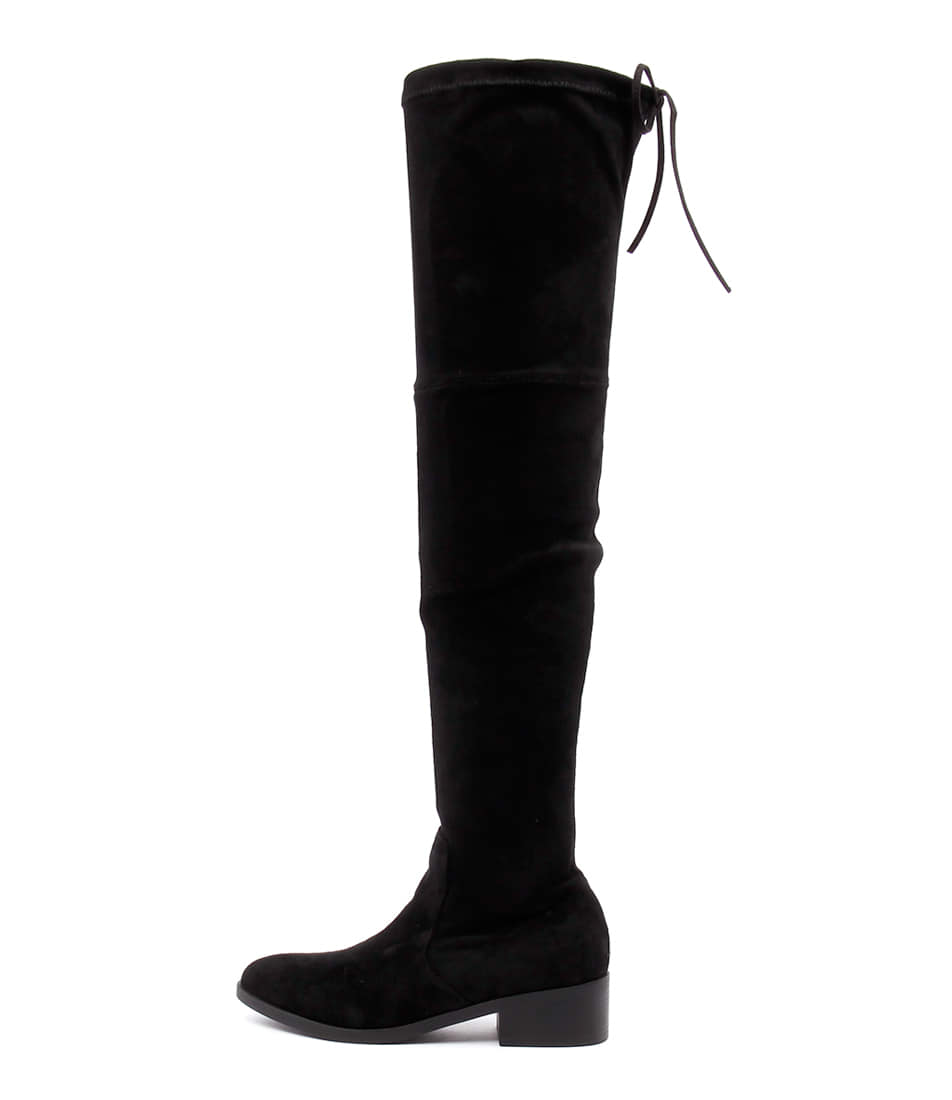 Lipstik Magda Black Long Boots