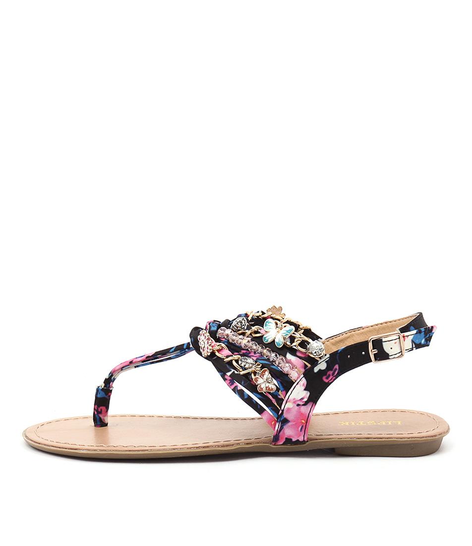 Lipstik Iris Black Sandals