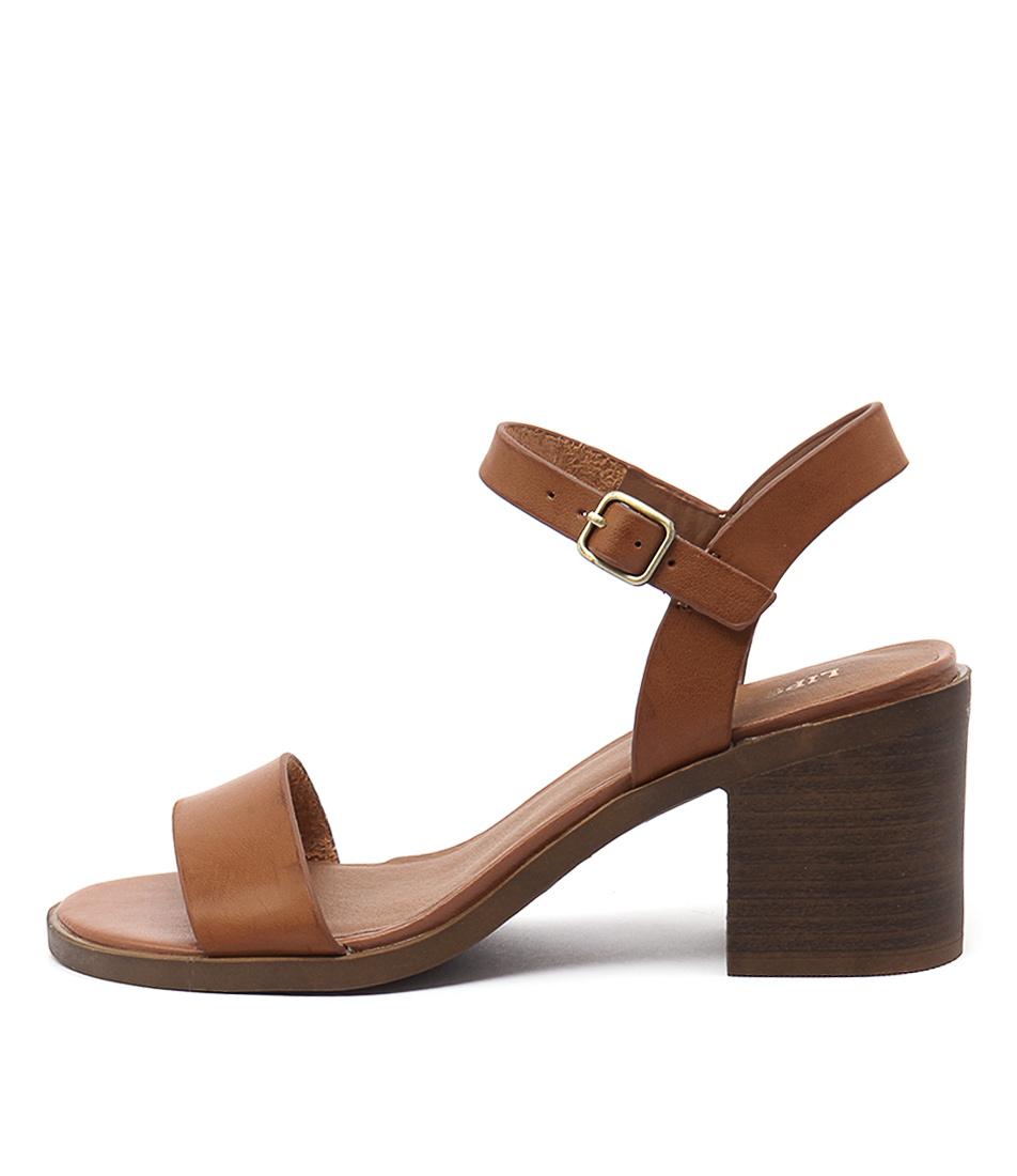 Lipstik Basik Tan Casual Heeled Sandals