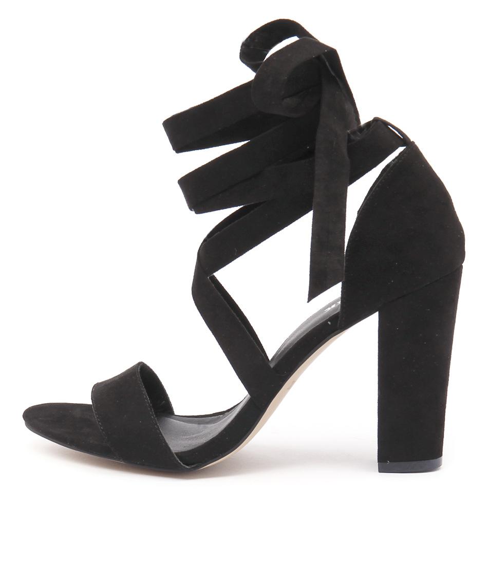 Lipstik Gael Li Black Dress Heeled Sandals