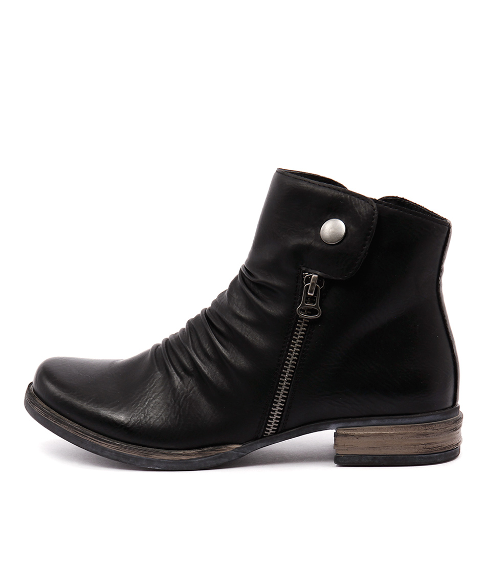 Los Cabos Corso Black Casual Ankle Boots