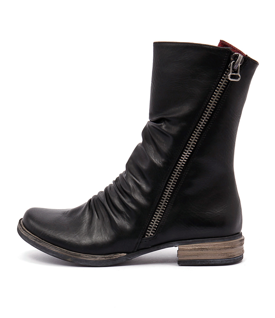 Los Cabos Corsica Black Ankle Boots