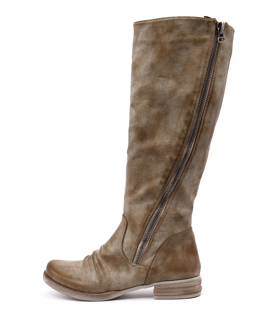 Los Cabos Corsina Beige Casual Long Boots
