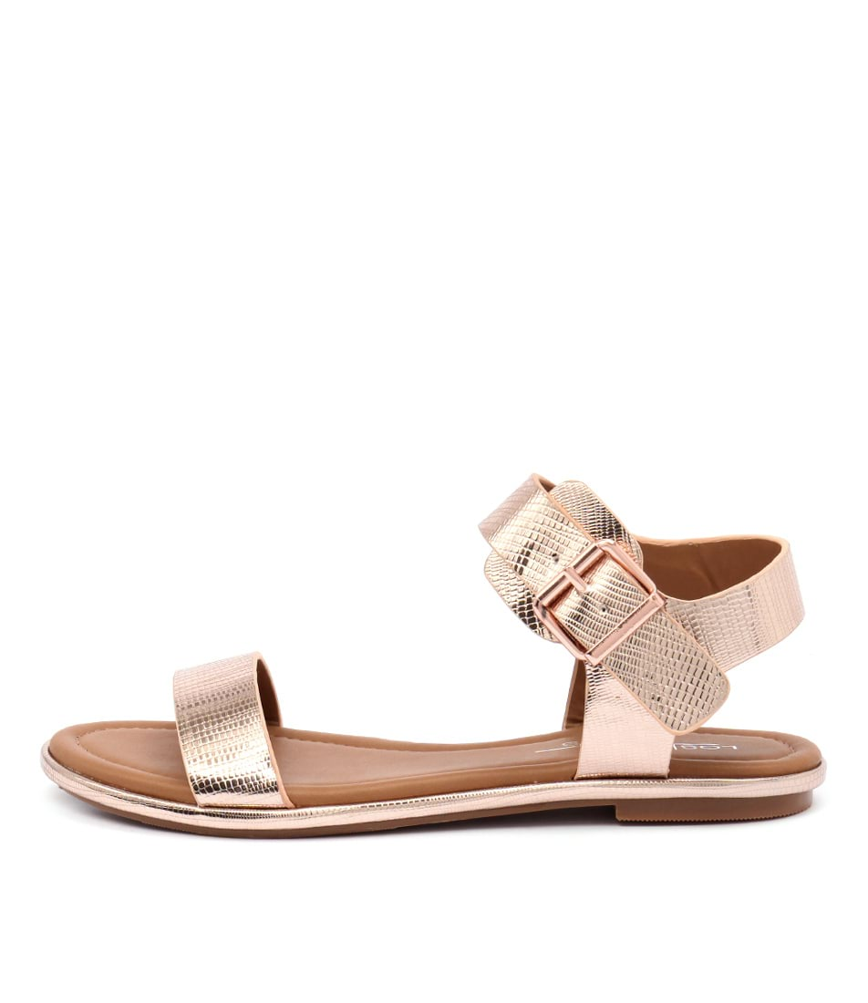 Los Cabos Riva W Rose Gold Casual Flat Sandals