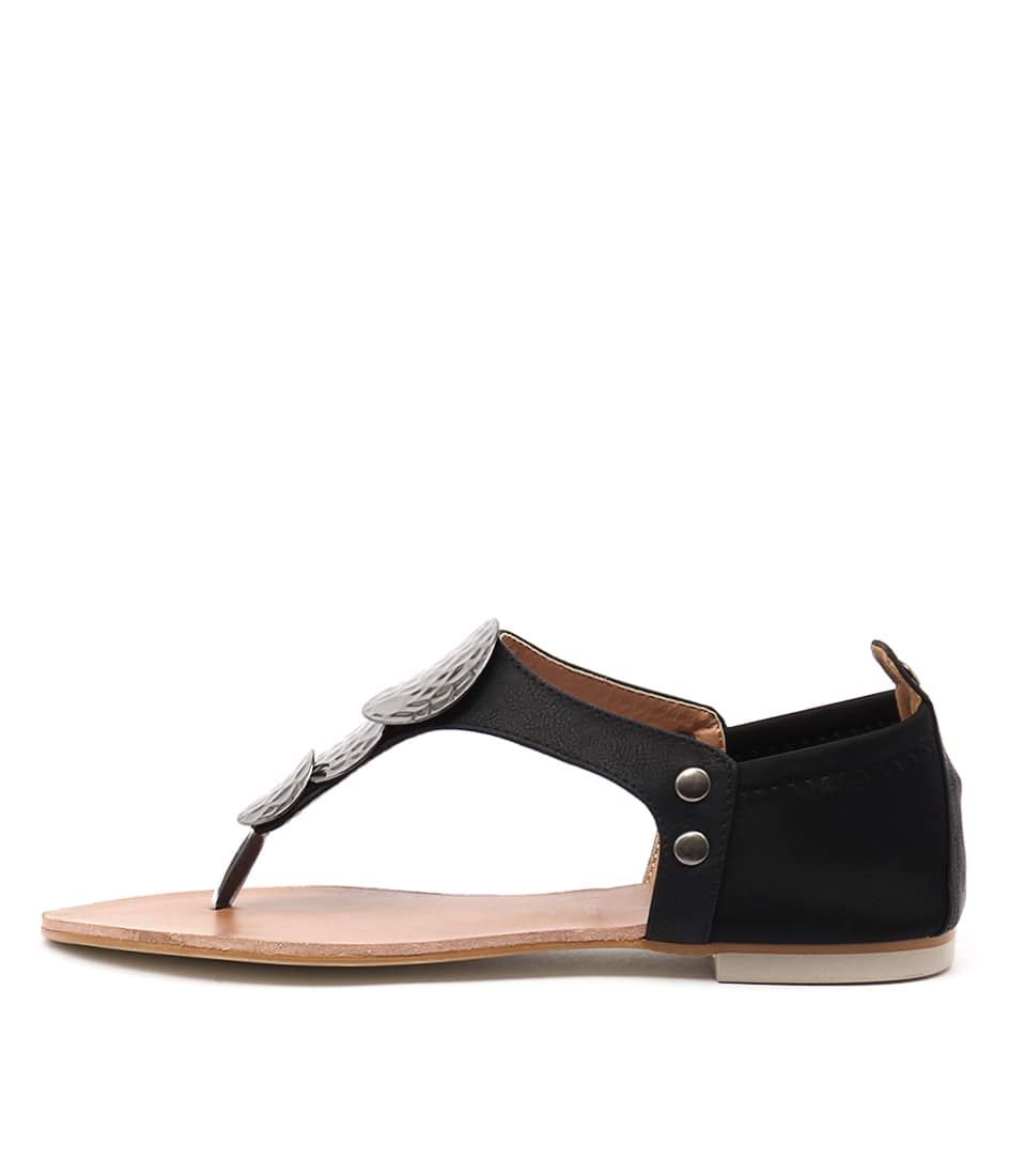 Los Cabos Val Black Casual Flat Sandals