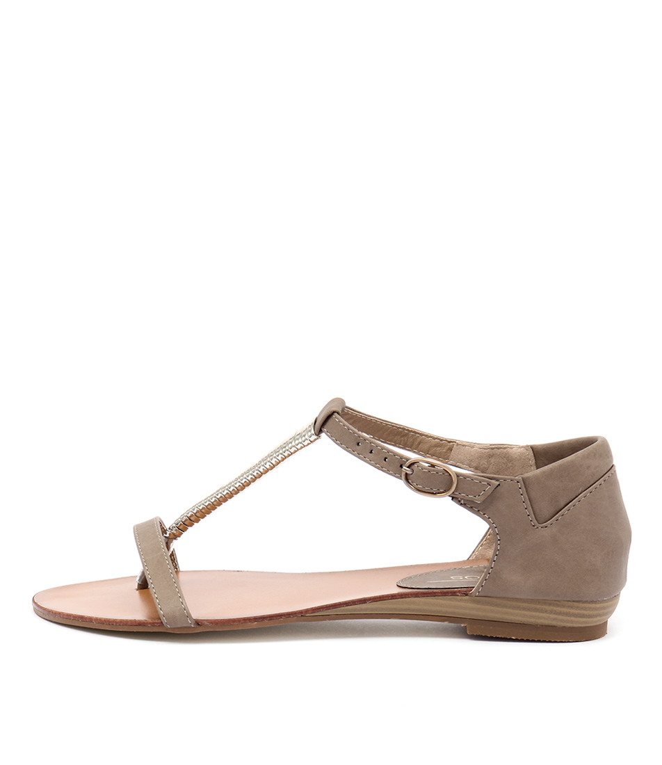 Los Cabos Cila Taupe Casual Flat Sandals