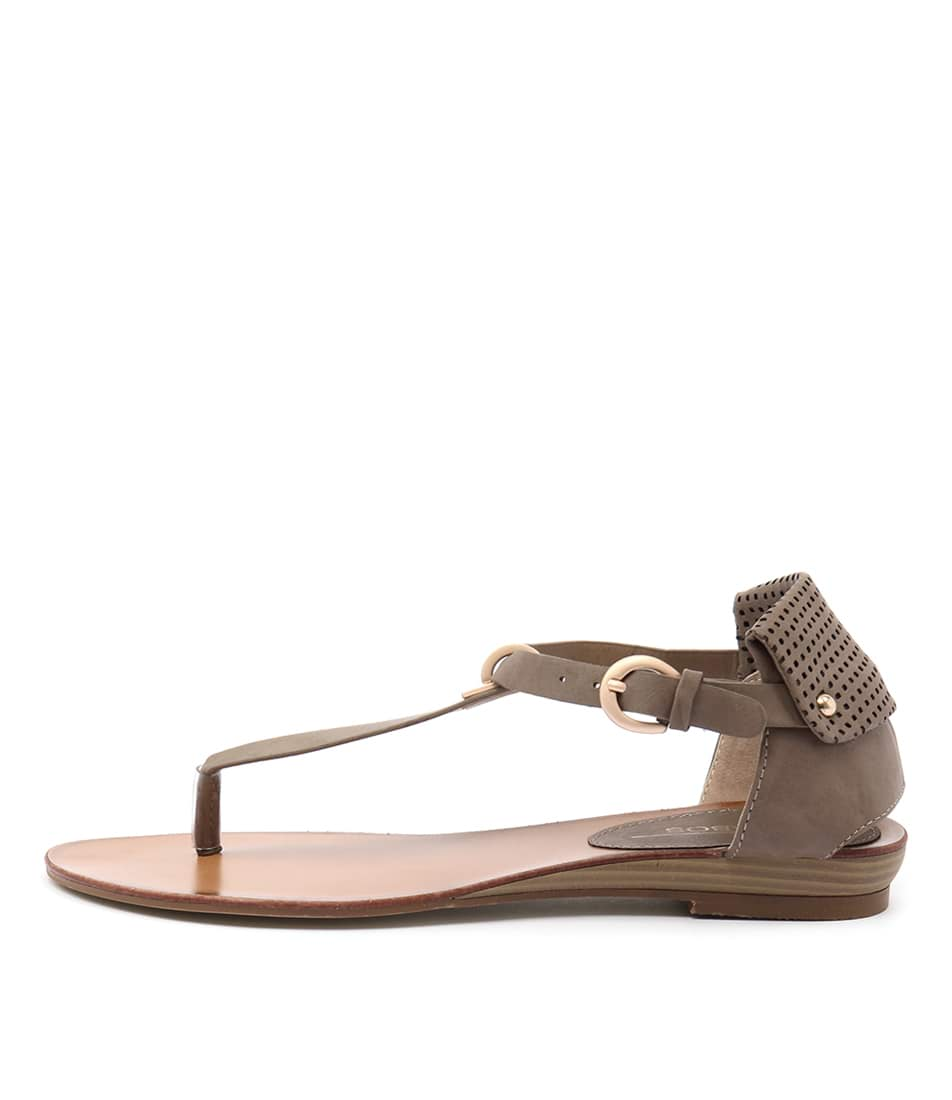 Los Cabos Ciri Taupe Casual Flat Sandals
