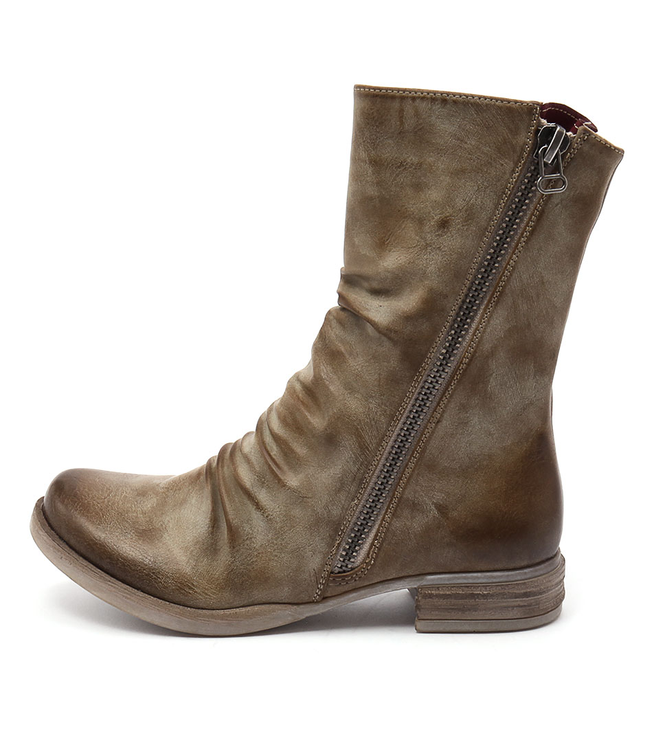 Los Cabos Corsica Taupe Ankle Boots