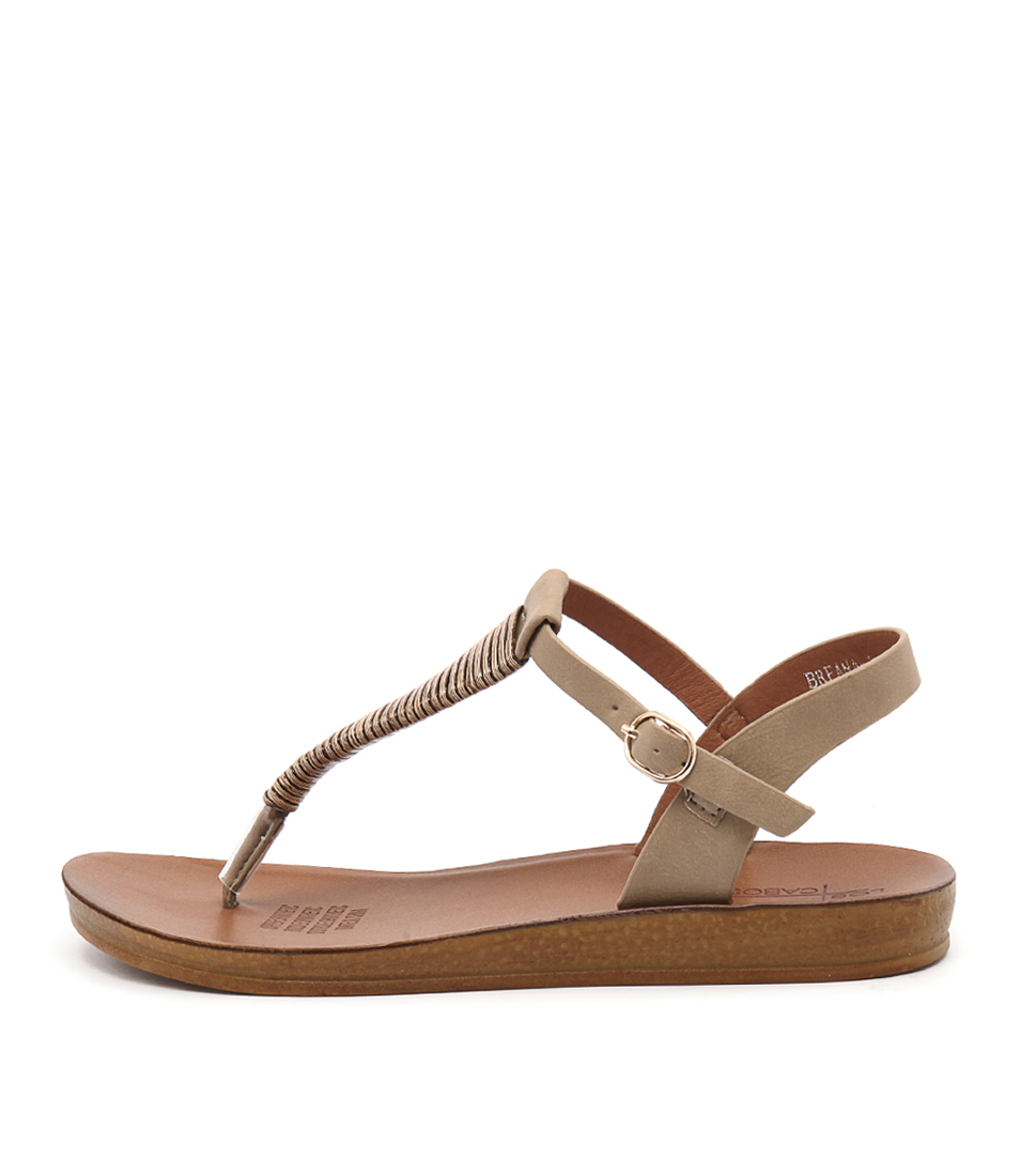 Los Cabos Breana W Taupe Casual Flat Sandals