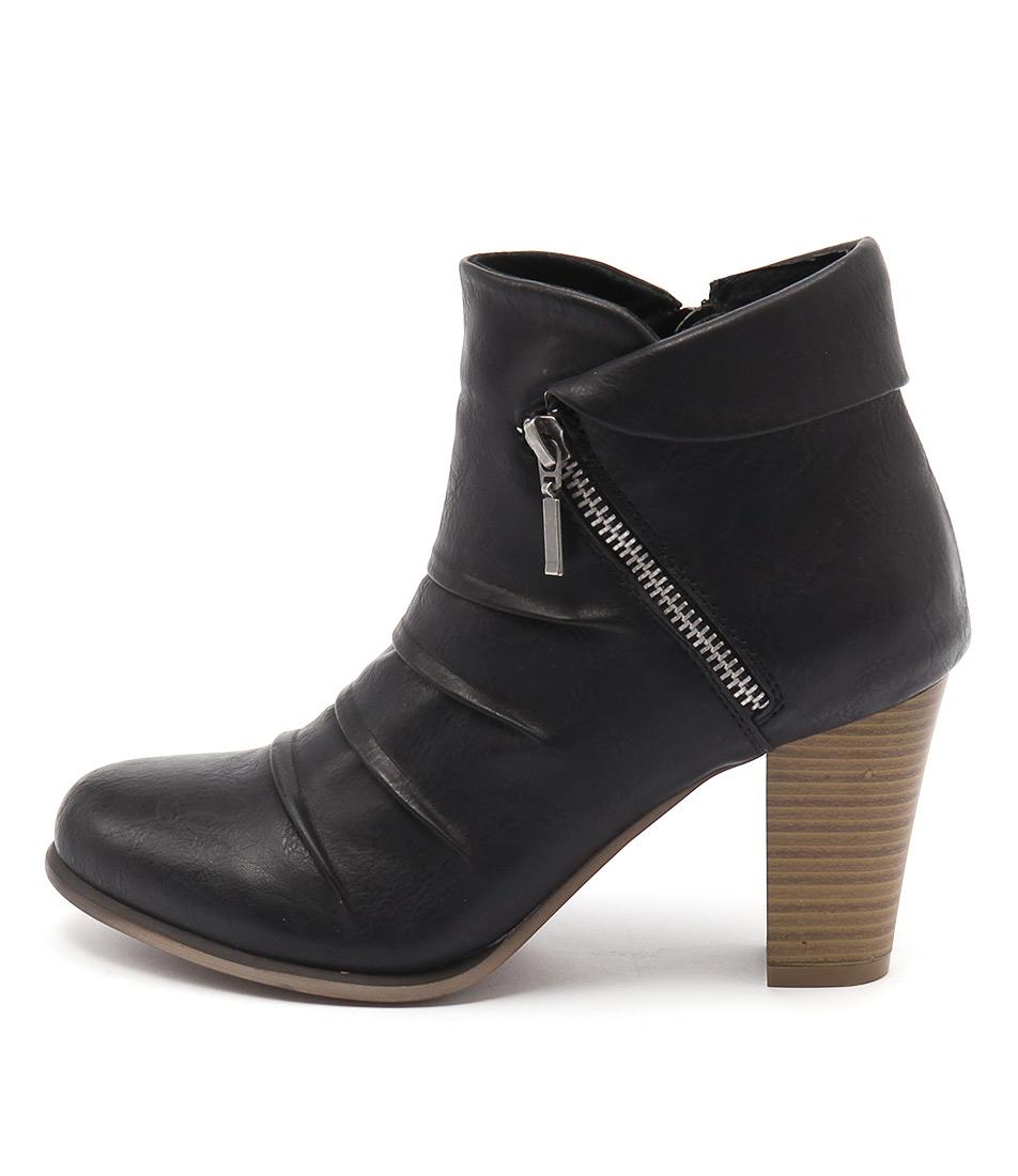 Los Cabos Delia Black Casual Ankle Boots