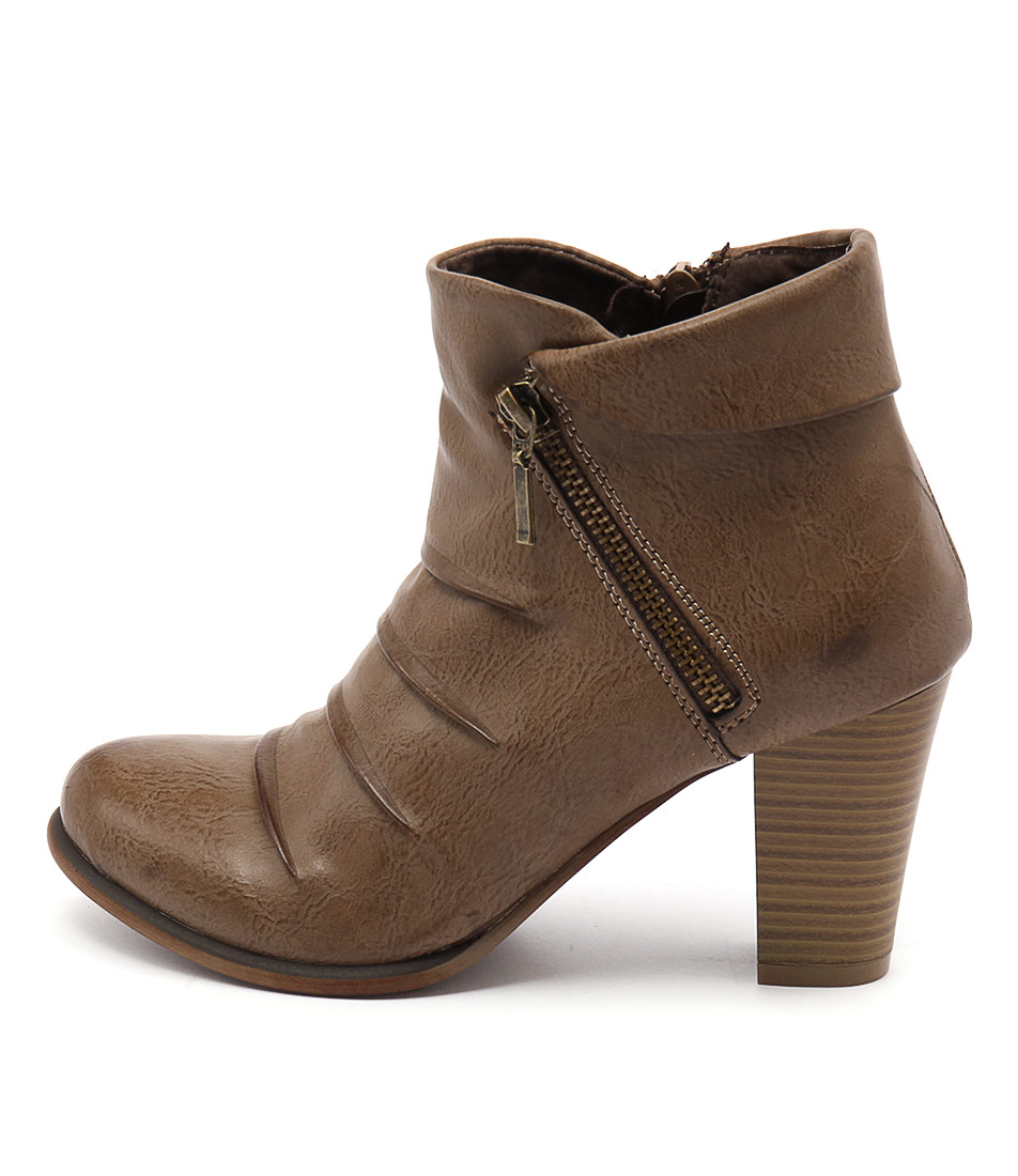 Los Cabos Delia Taupe Ankle Boots