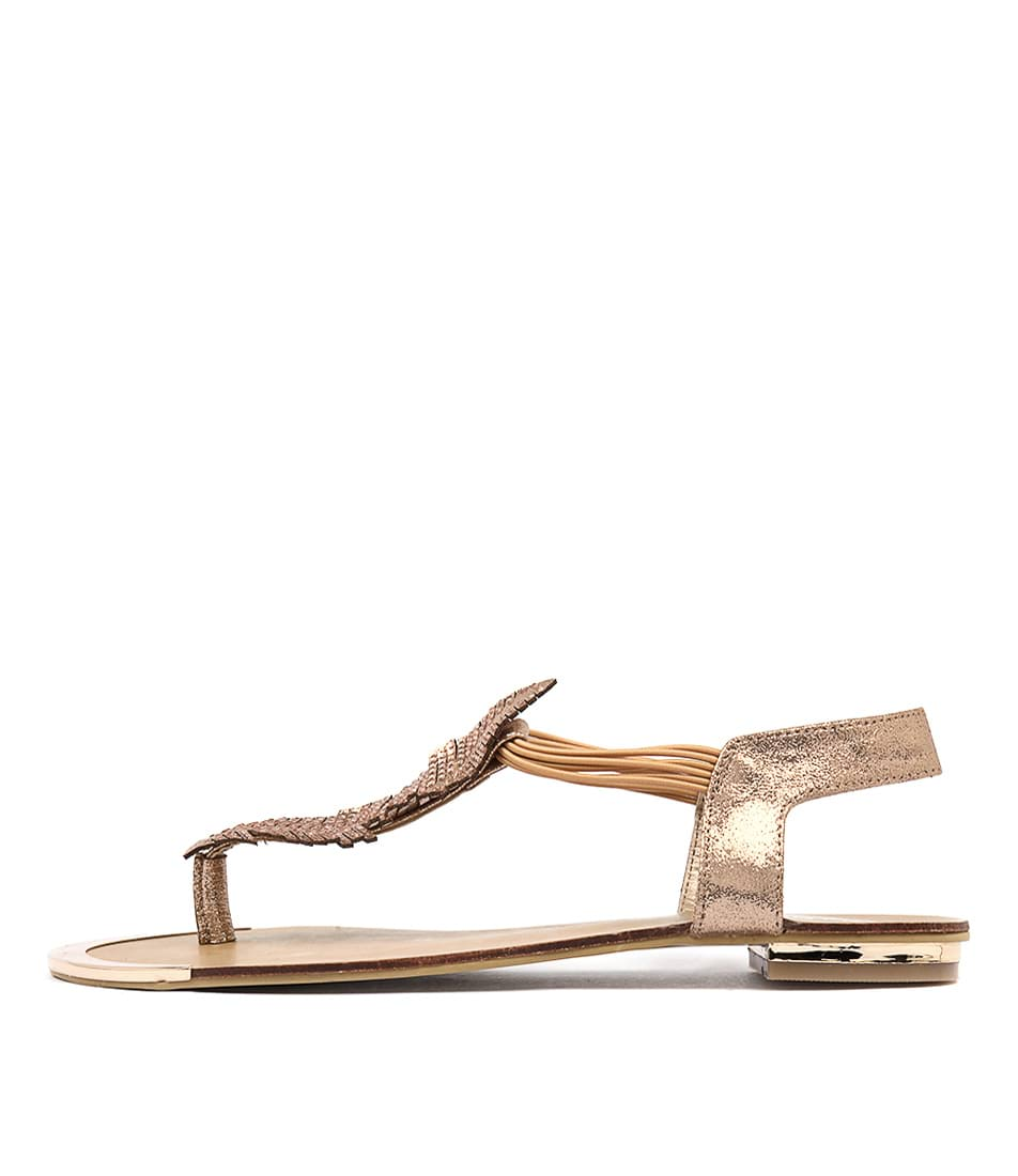Laguna Quays Autumn W Rose Gold Dress Flat Sandals