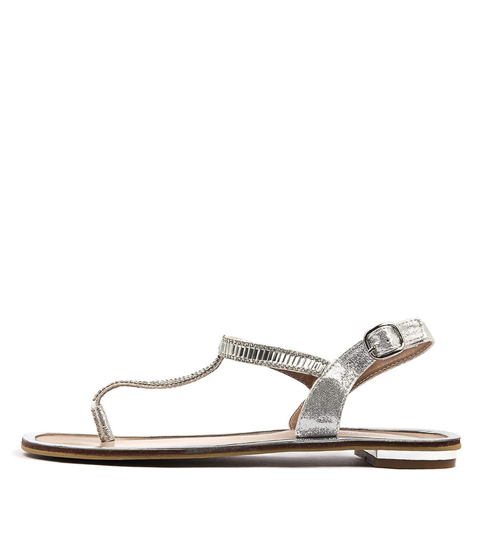 Laguna Quays Ciera W Silver Dress Flat Sandals