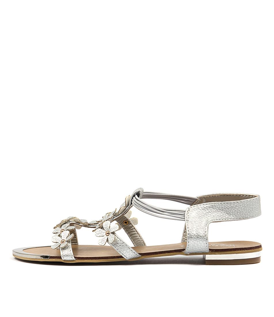 Laguna Quays Florist Lq Silver Casual Flat Sandals