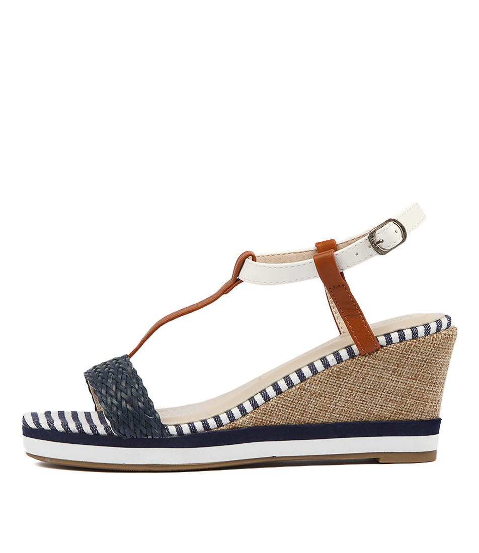 Buy Laguna Quays Tina W Blue Heeled Sandals online with free shipping