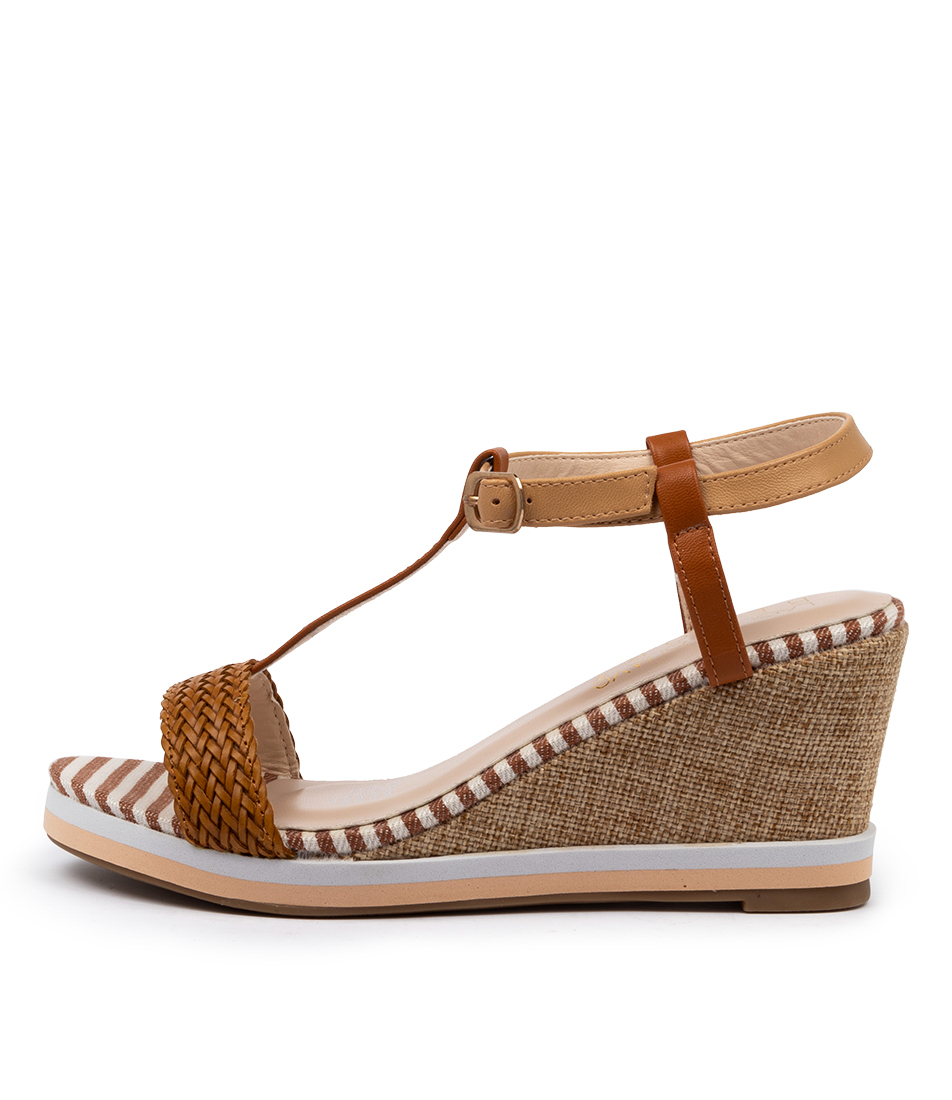 Buy Laguna Quays Tina W Tan Heeled Sandals online with free shipping