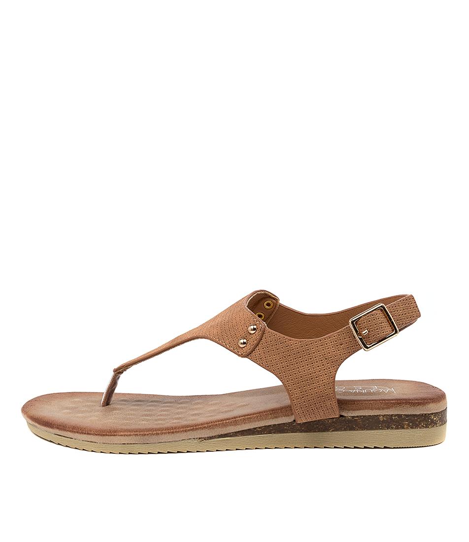 Buy Laguna Quays Khanita W Tan Flat Sandals online with free shipping