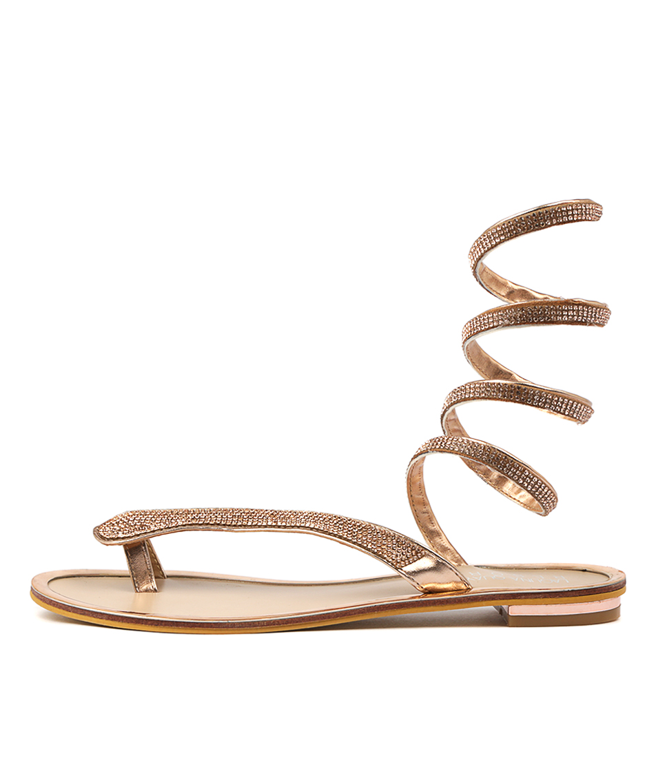 Buy Laguna Quays Snazzy W Rose Gold Flat Sandals online with free shipping