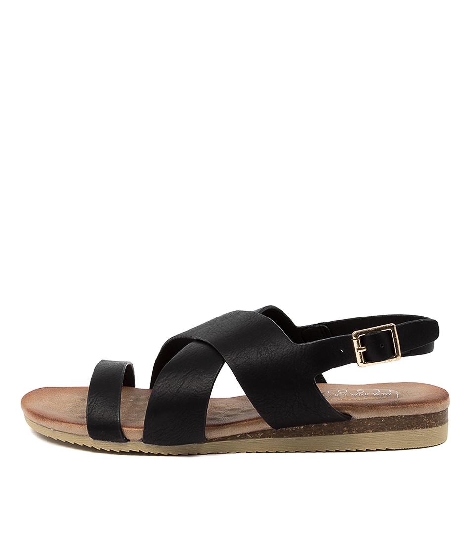 Buy Laguna Quays Kutie W Lq Black Flat Sandals online with free shipping