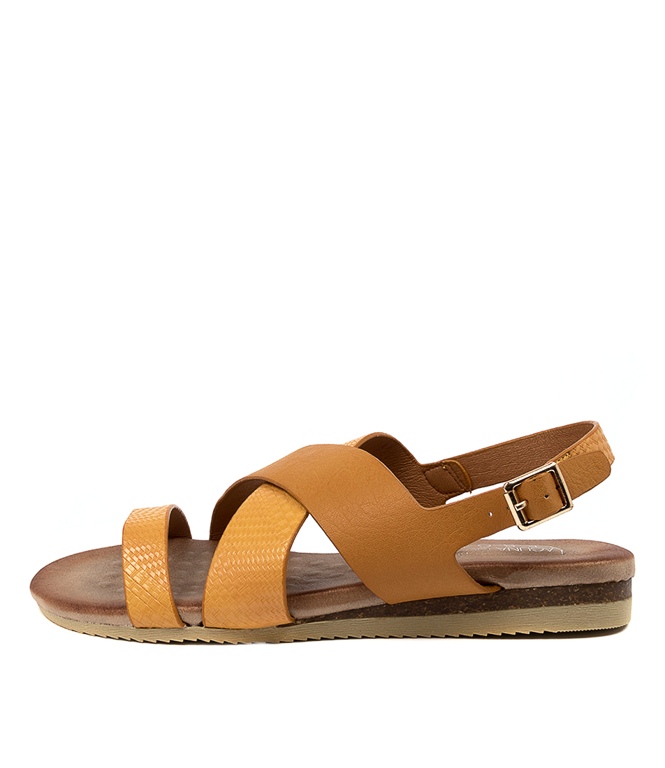Buy Laguna Quays Kutie W Lq Caramel Flat Sandals online with free shipping