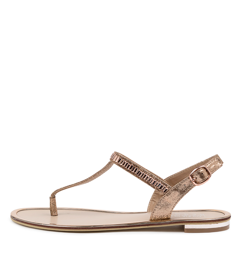 Buy Laguna Quays Ciera W Lq Rose Gold Sandals Flat Sandals online with free shipping