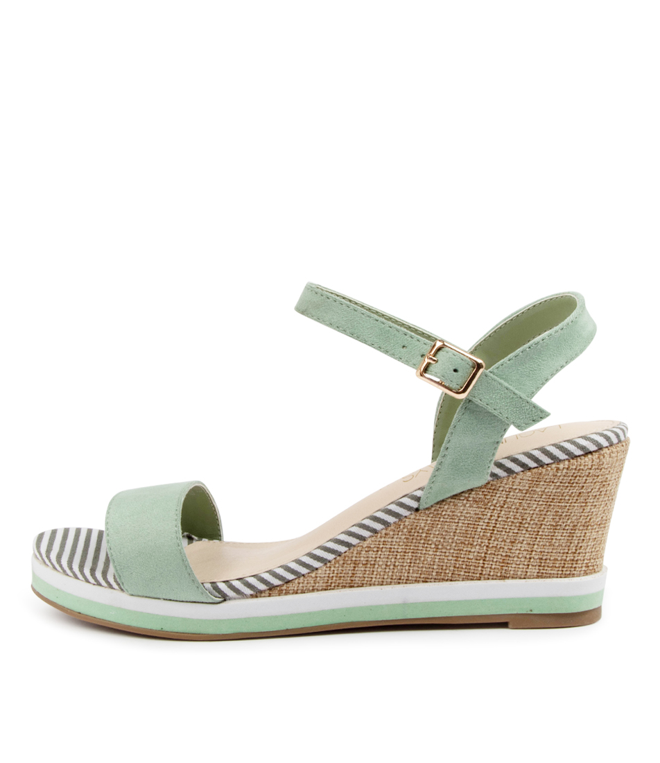 Buy Laguna Quays Token W Lq Sage Heeled Sandals online with free shipping