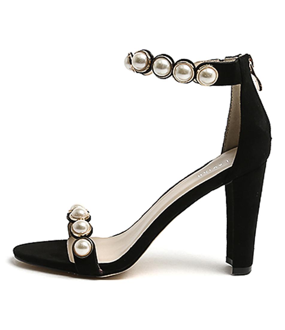 Lavish Ariel Lv Black Dress Heeled Sandals