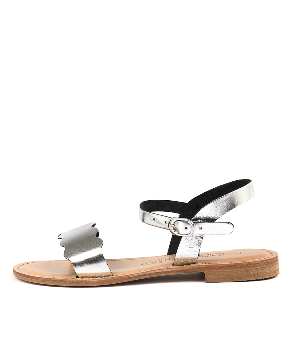 Buy Maria Rossi Elletra Silver Flat Sandals online with free shipping