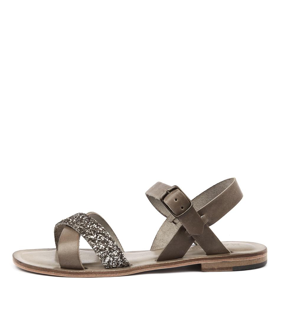 Maria Rossi Quartilla Anthracite Casual Flat Sandals
