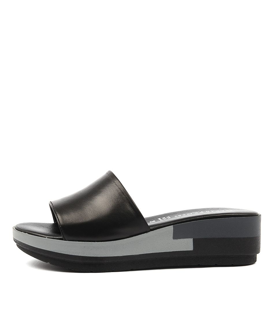 Maria Rossi Rachele Nero Casual Heeled Sandals