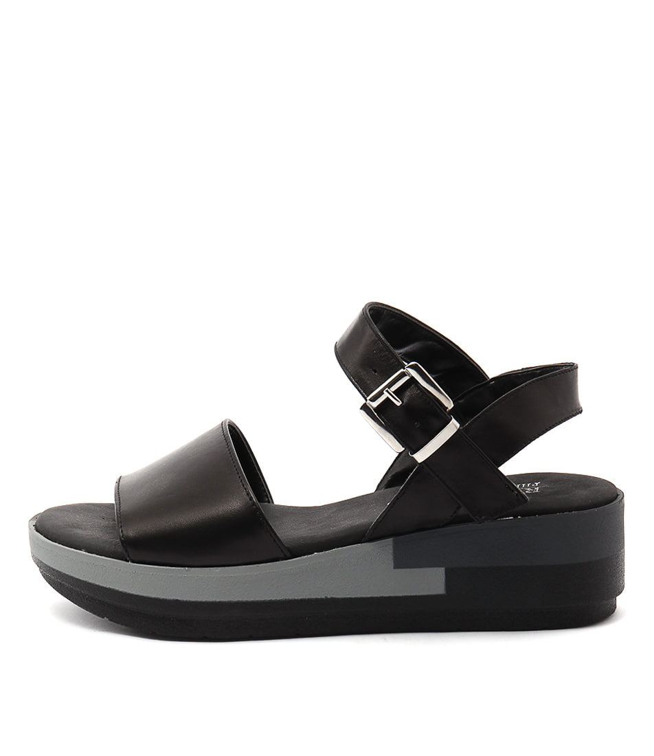 Maria Rossi Rafaele Nero Casual Heeled Sandals