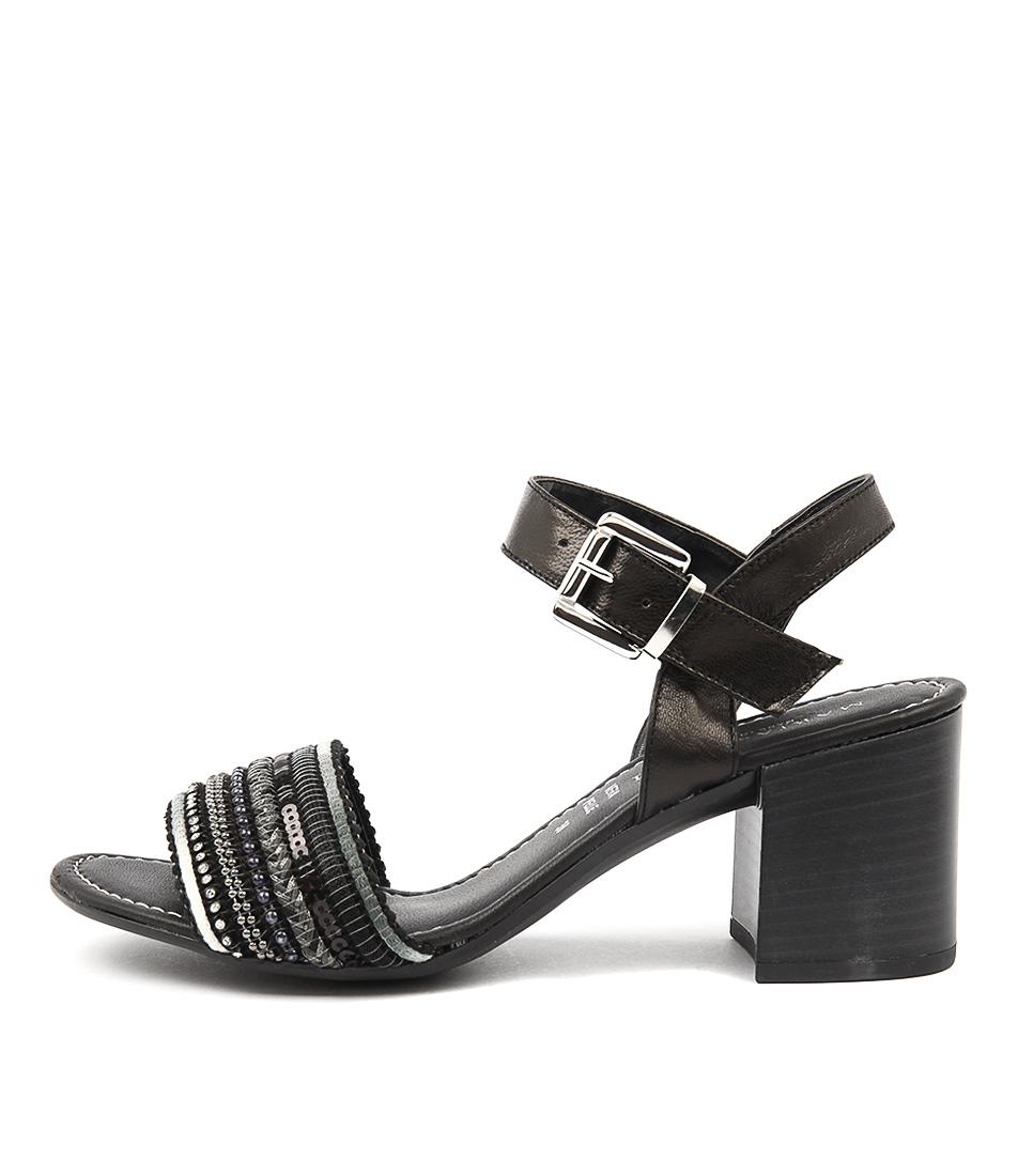 Maria Rossi Renata Ma Nero Casual Heeled Sandals