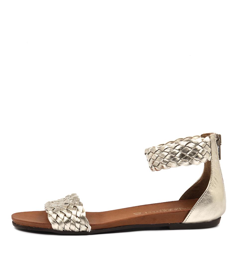 Maria Rossi Selene Ma Oro Flat Sandals
