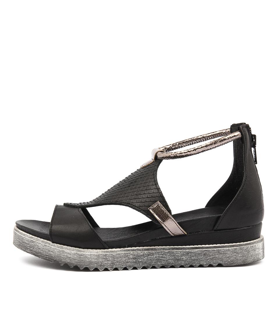 Maria Rossi Susanna Nero Flat Sandals