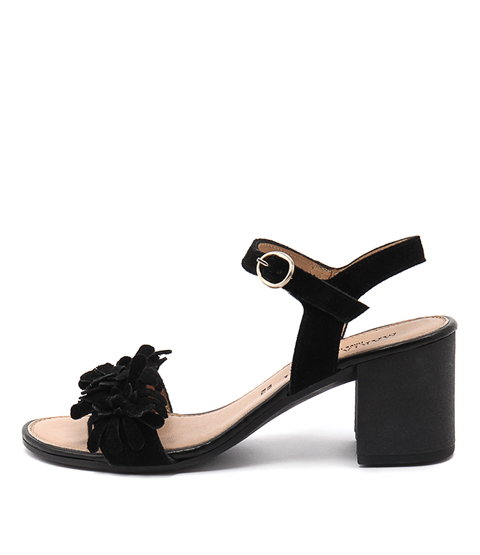 Maria Rossi Valeria Black Heeled Sandals