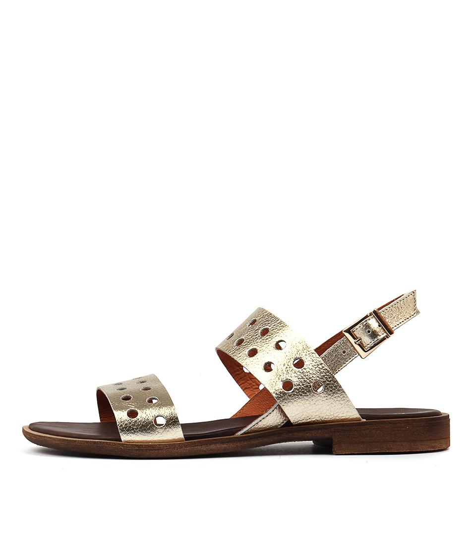 Maria Rossi Sabrina Sandal Platinum Casual Flat Sandals