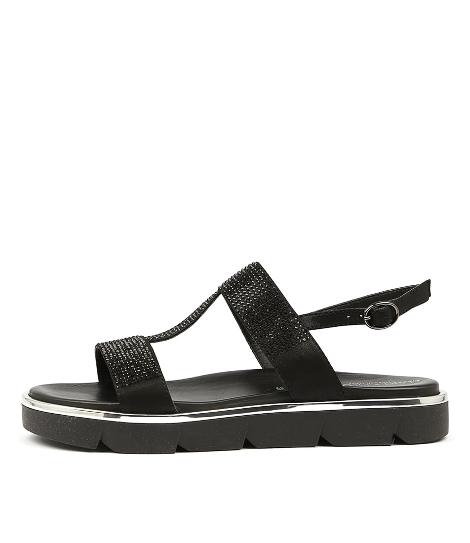 Buy Maria Rossi Ricarda Black Flat Sandals online with free shipping