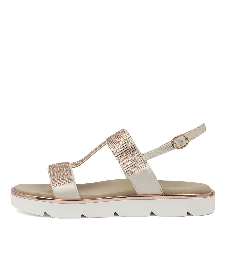 Buy Maria Rossi Ricarda Rame Flat Sandals online with free shipping