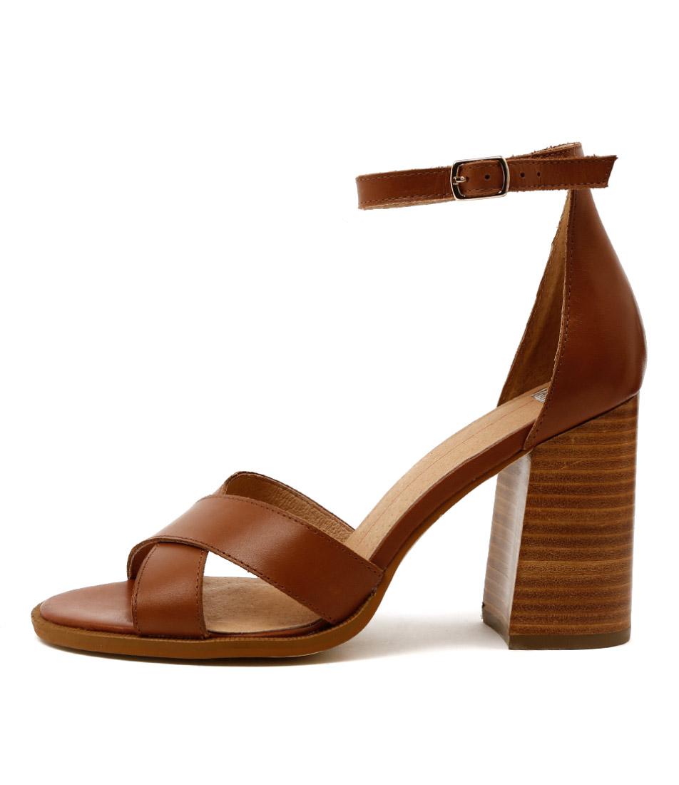Mollini Magnin Tan Dress Heeled Sandals