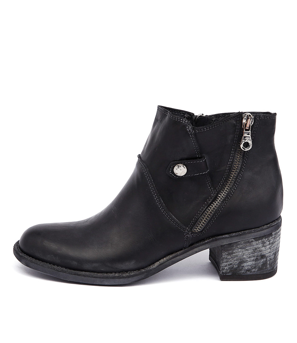 Maria Rossi Georgie Ma Black Casual Ankle Boots
