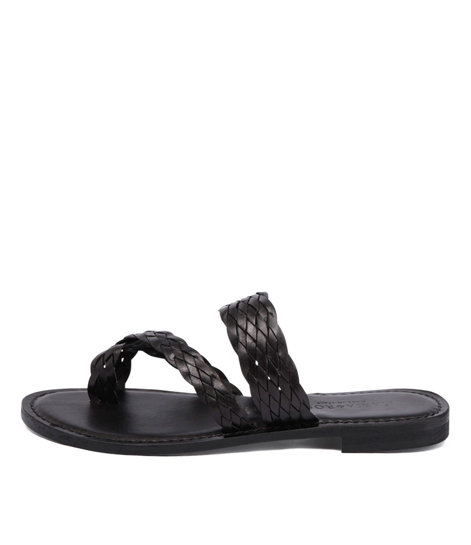 Maria Rossi Elana 1104 Black Casual Flat Sandals