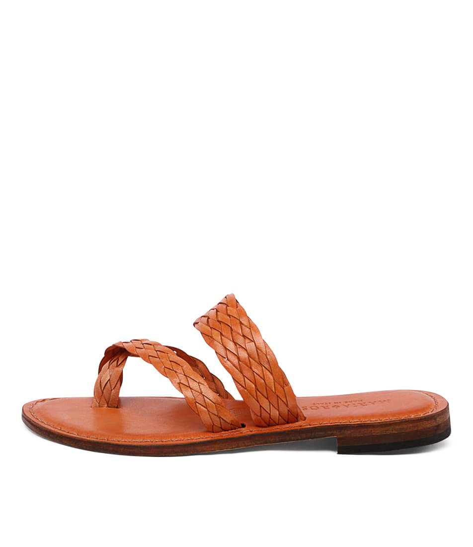 Maria Rossi Elana 1104 Orange Casual Flat Sandals